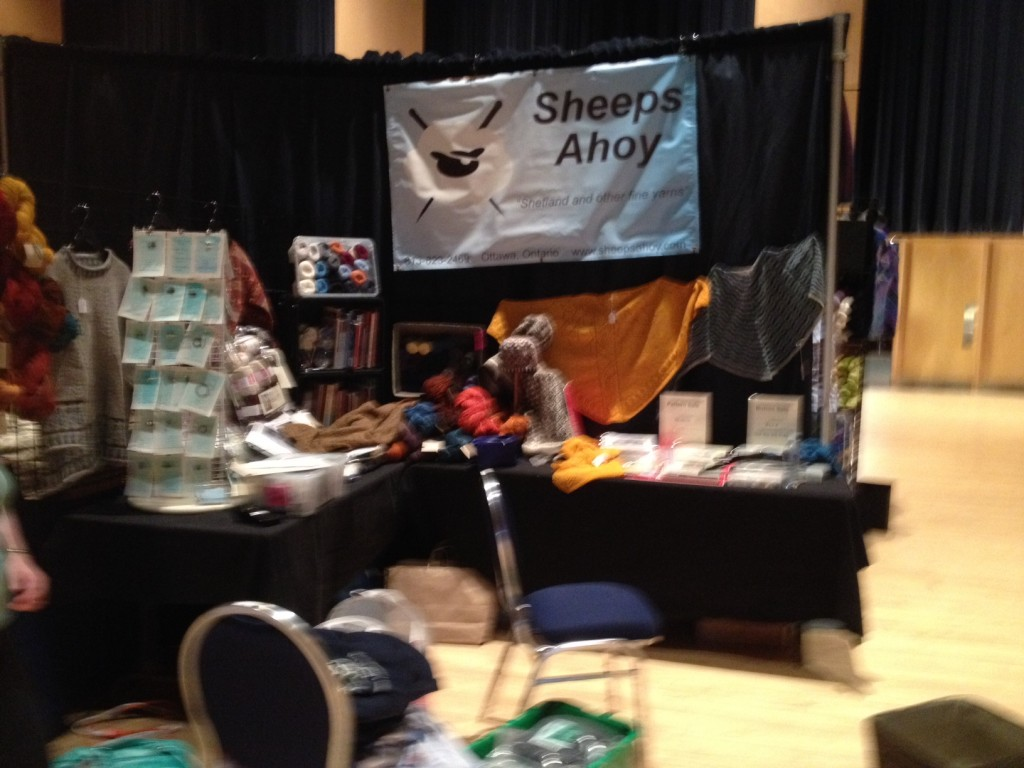 Sheeps Ahoy at the 2014 Knitters' Frolic in Toronto