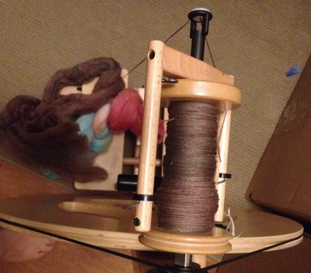 Turtlepurl Merino spinning