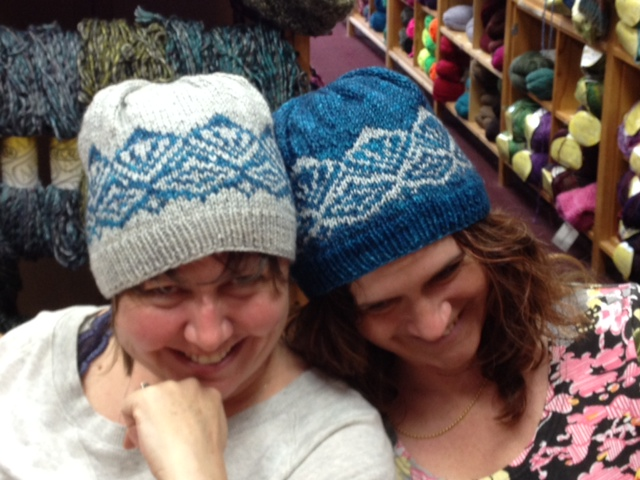 Jenn & Louise sporting my Valerian Hat prototypes