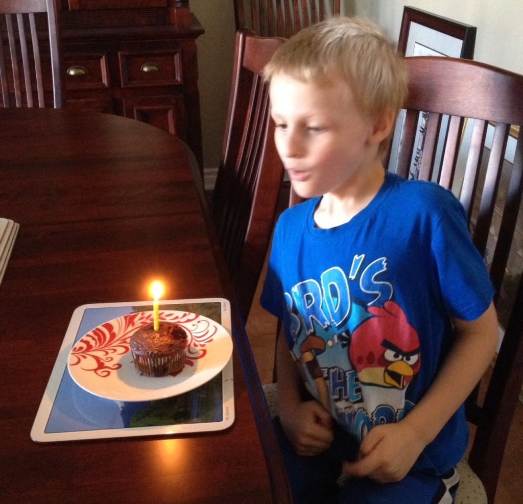 Birthday boy is 7