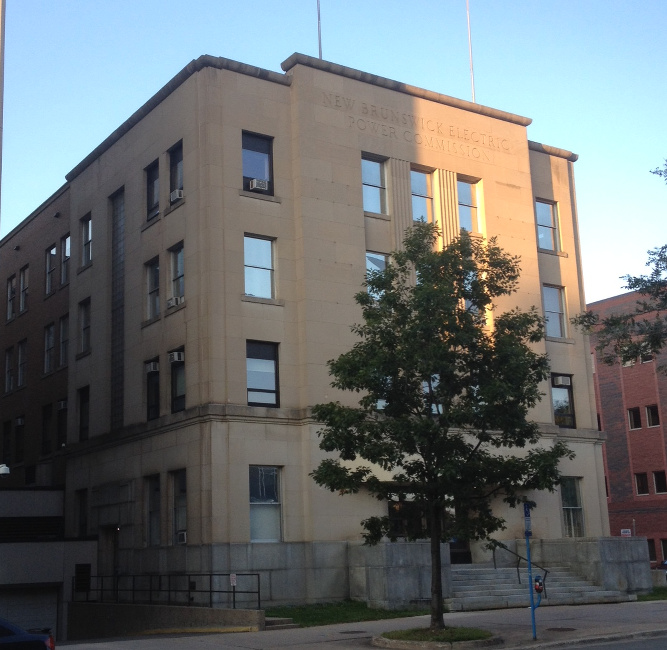 former building of the New Brunswick Electric Power Commission, Fredericton, New Brunswick
