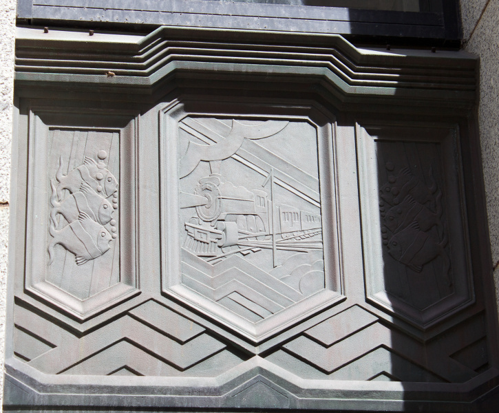 Dominion Public Building, Halifax, Nova Scotia: Mail delivery by train