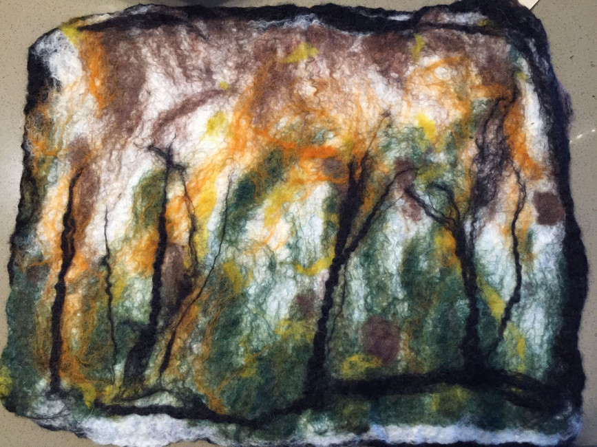 fall felt-scape after felting