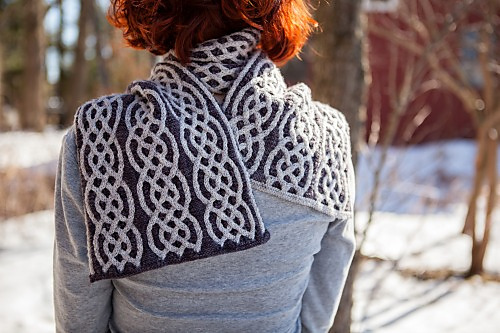 Salt Hill scarf by Andi Smith (in Synchronicity e-book)