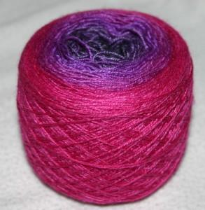 silk gradient skein spun from fiber by Turtlepurl Yarns