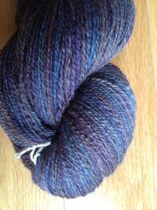 BFL skein spun from Turtlepurl Yarns fiber