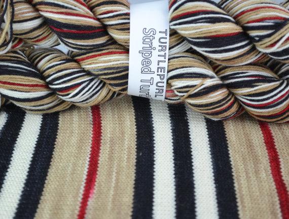 Trenchcoat self-striping yarn by Turtlepurl