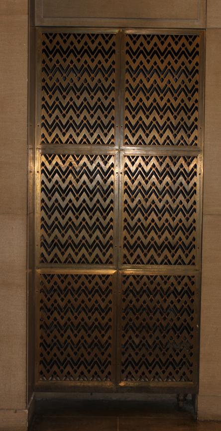 metal grilles, Pavilion Roger-Gaudry, Montréal