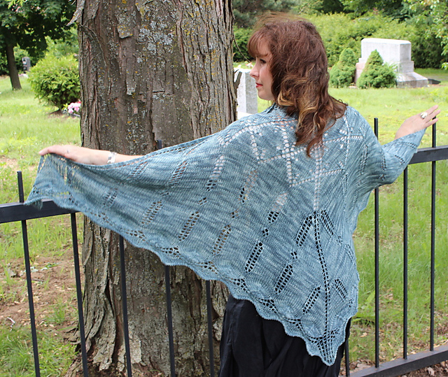Père Lachaise Shawl by Natalie Servant - sport weight Octobaa from Indigodragonfly