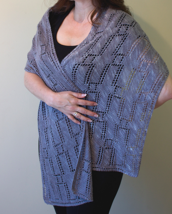 Time is Money shawl by Natalie Servant, Canadian Art Deco Knits