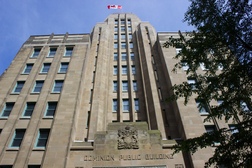 Halifax Dominion Building entrance