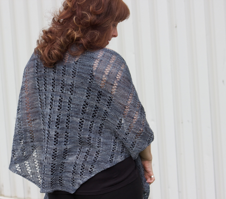 Dominion Building Shawl by Natalie Servant (in Cariboubaa by Indigodragonfly)