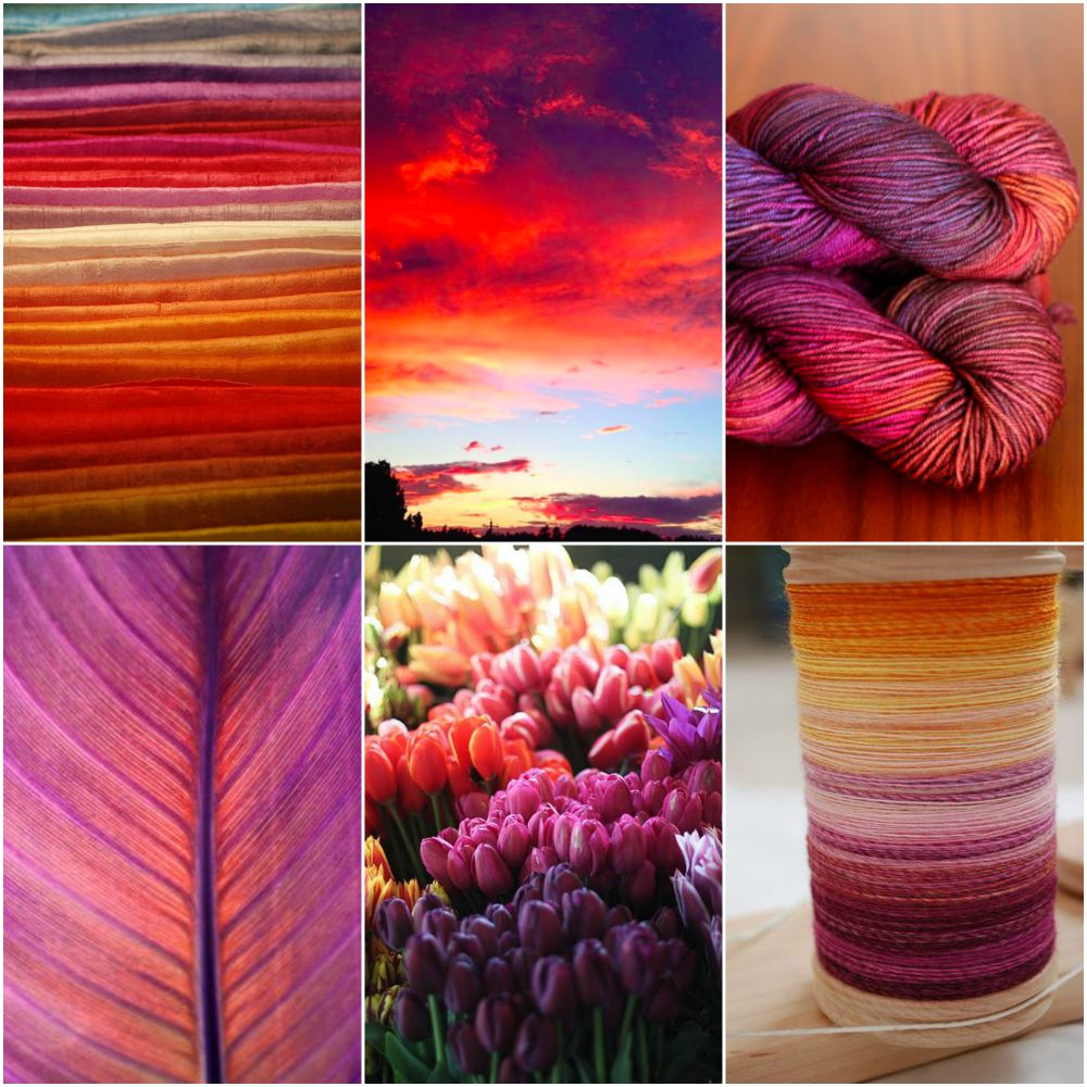 Tanis Fiber Arts Moodboard: Nova Scotia Sunset