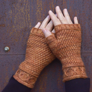 Copperline Mitts by Elizabeth Doherty