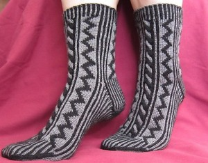 Dark Passage Socks by Beverly S.