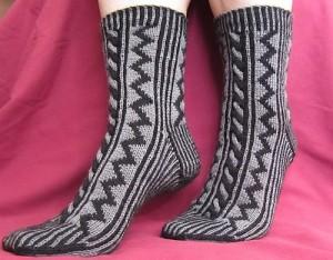 Dark Passage Socks by Beverly S.