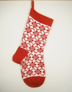Endless Roses Christmas Stocking by Denise Balvanz