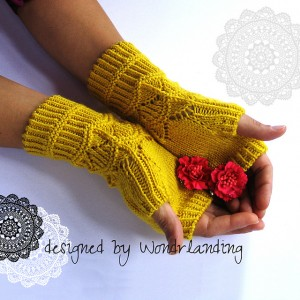 Nara Fingerless Mittens by Wondrlanding