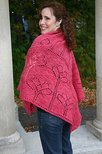 Poppy Field Shawl by Natalie Servant