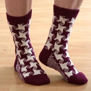 Swirling Star Socks by Knitwise Design