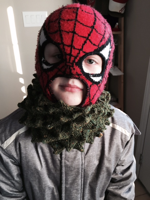 Tree cowl on Spidey