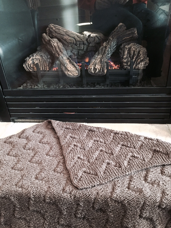 Ribbed Chevron Blanket by Natalie Servant