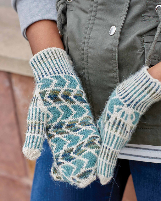 Ellington Mittens by Kyle Kunnecke in Urban Knit Collection