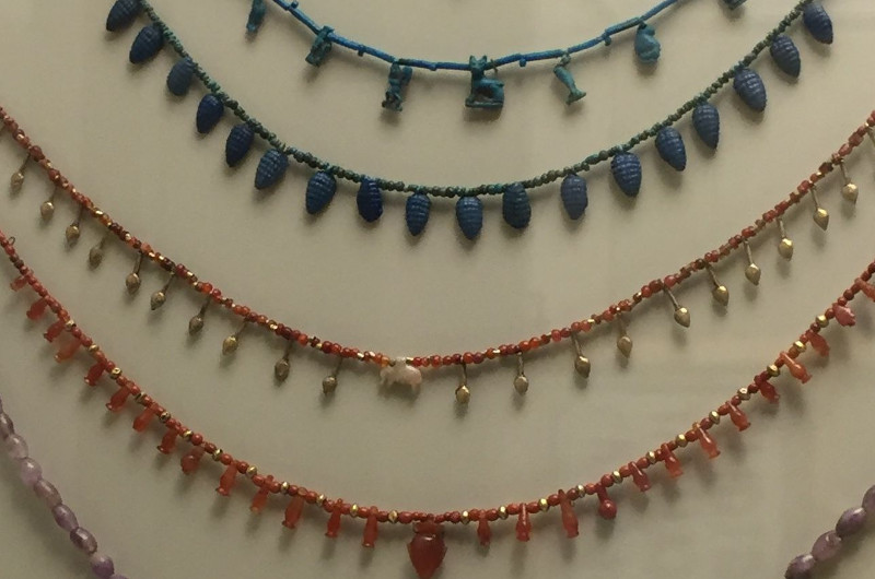 Egyptian necklaces at the ROM