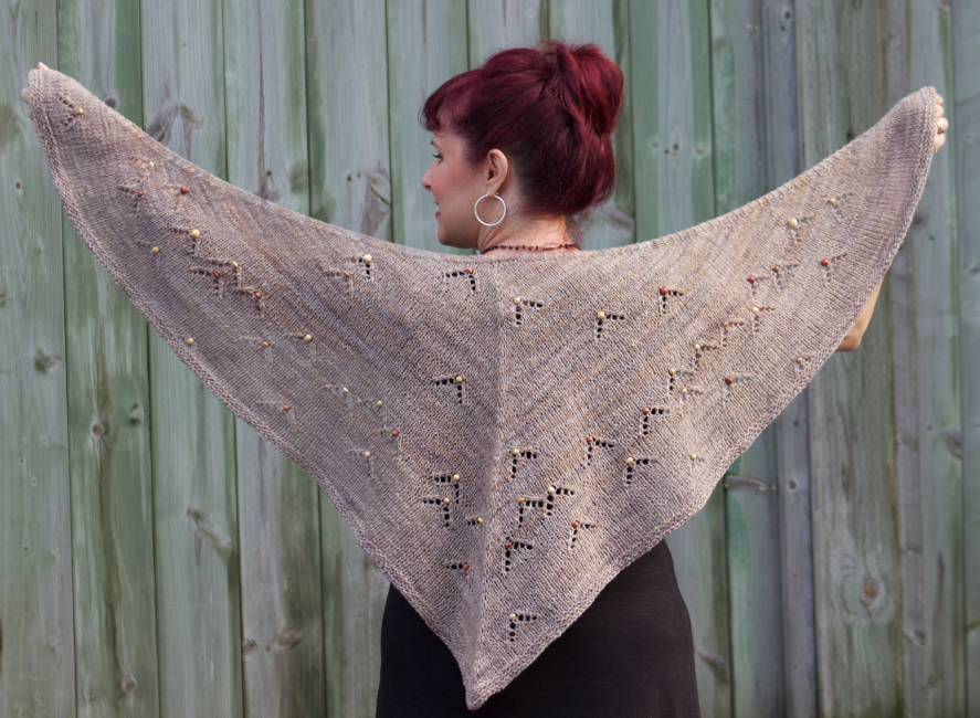 Beach Pebbles Shawl by Natalie Servant