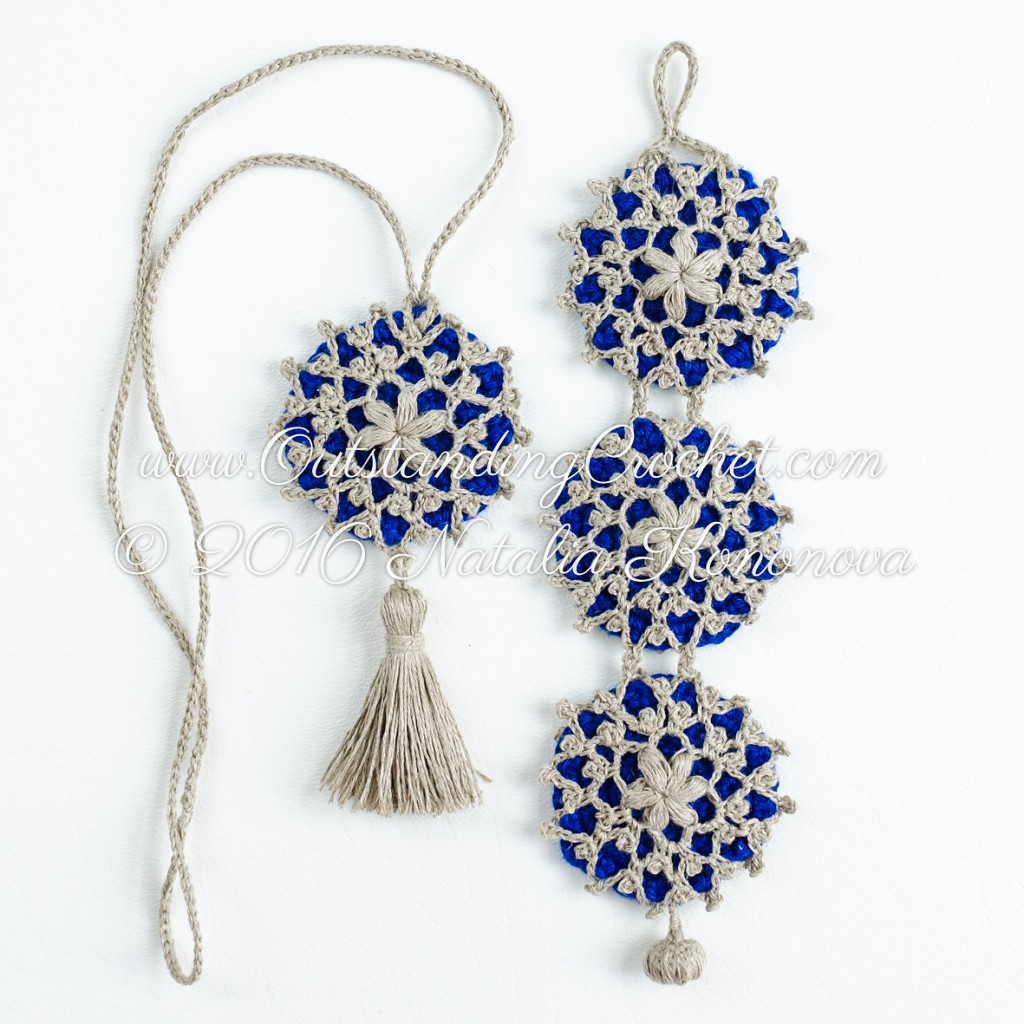 Snowflake Bracelet and Necklace Set by Natalie Kononova (crochet)
