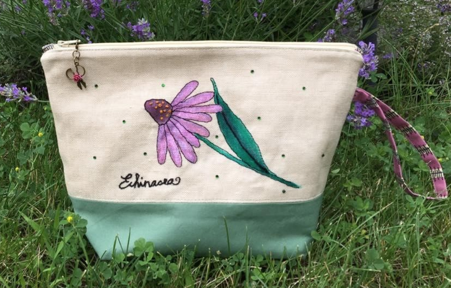 Echinacea Bag by Beatrice Janky