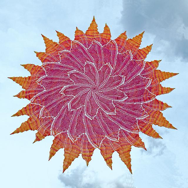 Solar Flare Circular Shawl by Lindsay Lewchuk