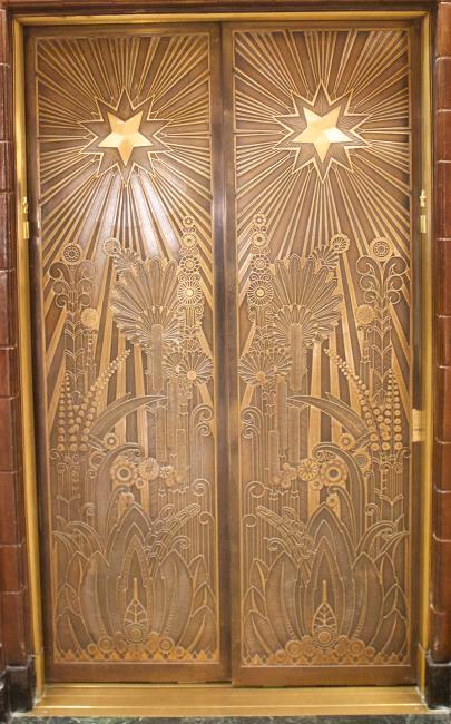 Marine Building elevator door