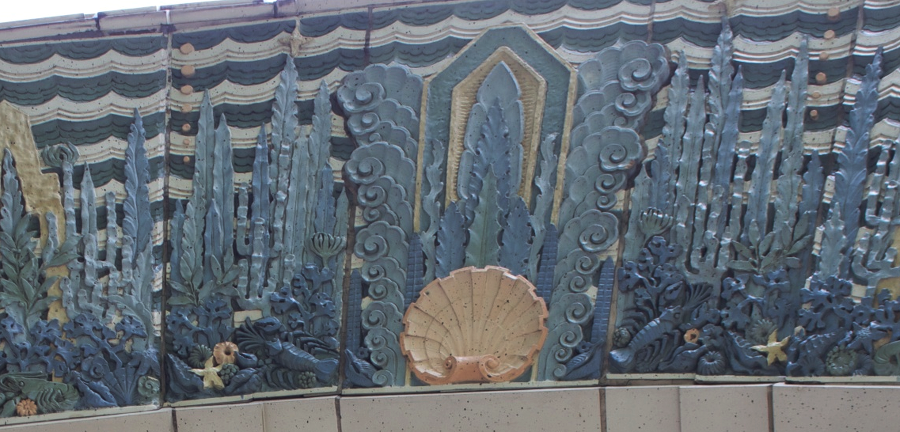 Marine Building entrance detail