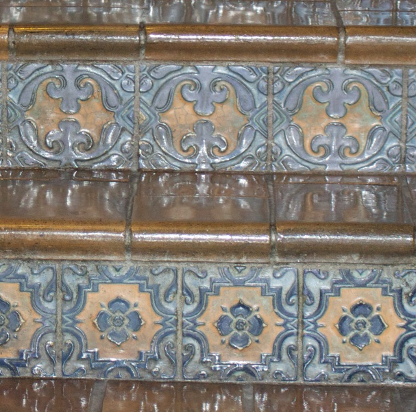 Marine Building - tiles on stairs