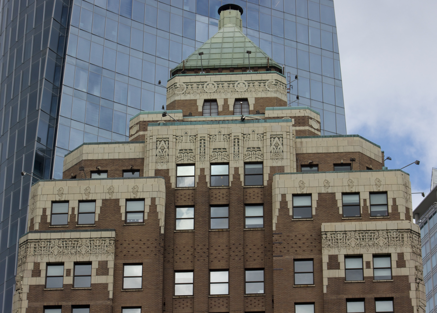 Marine Building - the top
