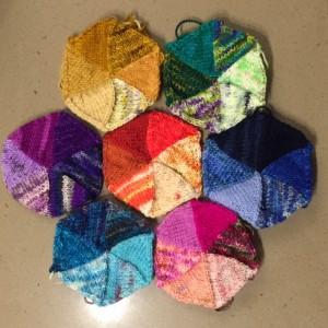First seven hexagons