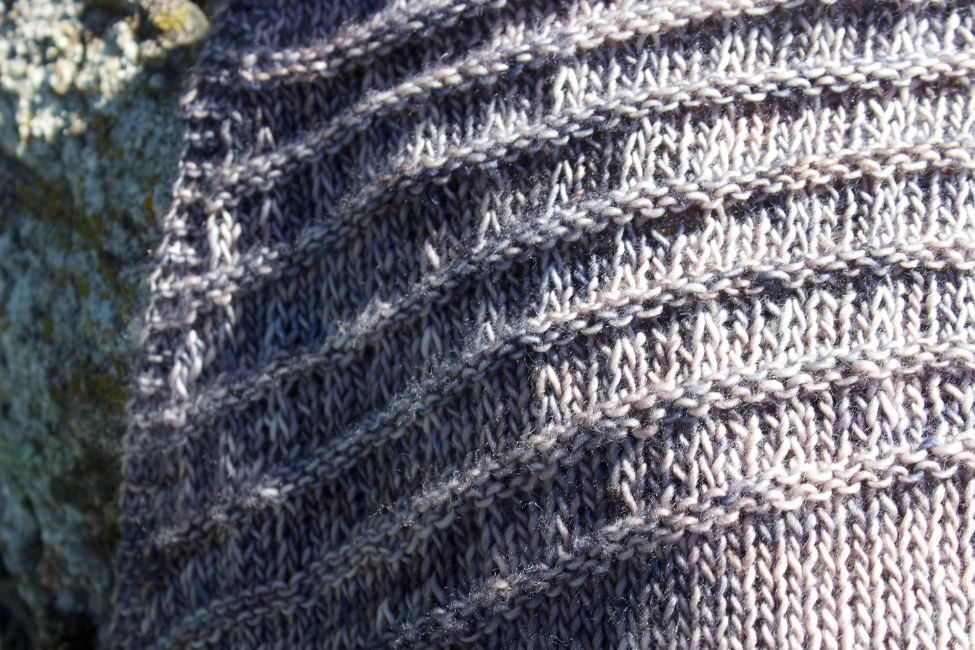 Marie Curie shawl - texture detail