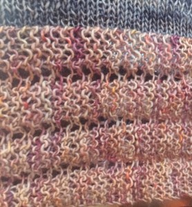 Marie Curie shawl - border
