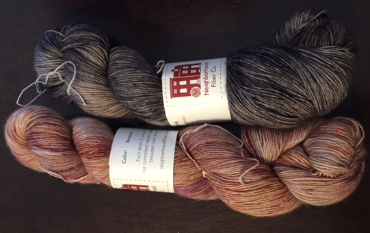 Neighborhood Fiber Co. Rustic Fingering: Shadow & Basquiat