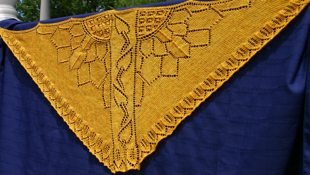 Sunflower Field Shawl